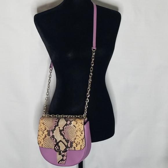 Pink Kate Spade Crossbody Bag w/ Python Embossing